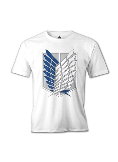 Lord Tshirt Attack On Titan - Logo Beyaz Erkek Tshirt Beyaz